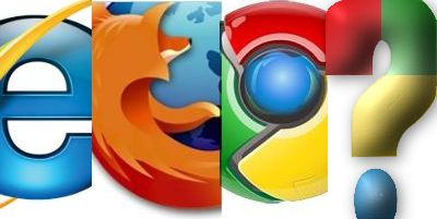 montage of web browser icons plus a question mark