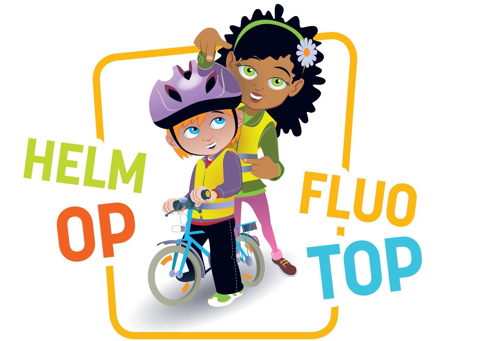 Vergeet je FLUO- vest (en fietshelm) niet!