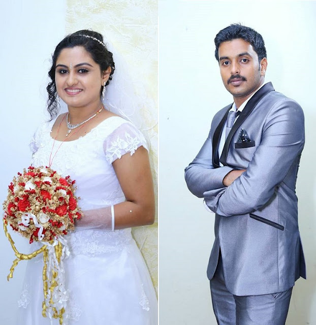 Actress Sini Varghese and Antony - The bride and the groom