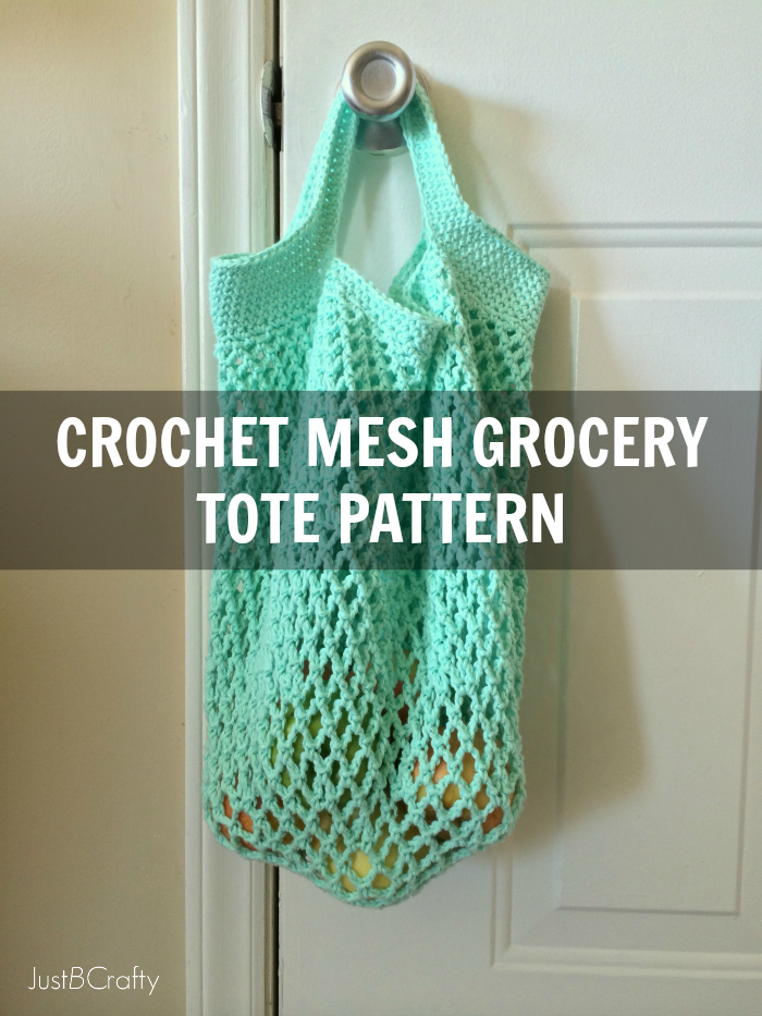 Crochet Mesh Bag Pattern : Crochet Mesh Grocery Tote Pattern