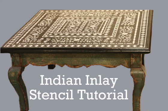 indian inlay stencil