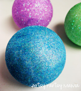 Winter apothecary jars artsy fartsy mama for Crafts with styrofoam balls for kids
