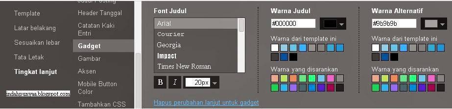 Cara Mudah Ganti Font Gadget, Judul Blog Tanpa Edit Script