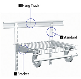 Heres How My ClosetMaid ShelfTrack System Looks Fully Assembled Except For The Rod At Front Which Is Handy In Case You Wish To Hang Clothes But I