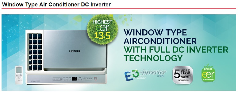 Window Type Air Conditioner AirCare: Hitachi Window Type Airconditioner