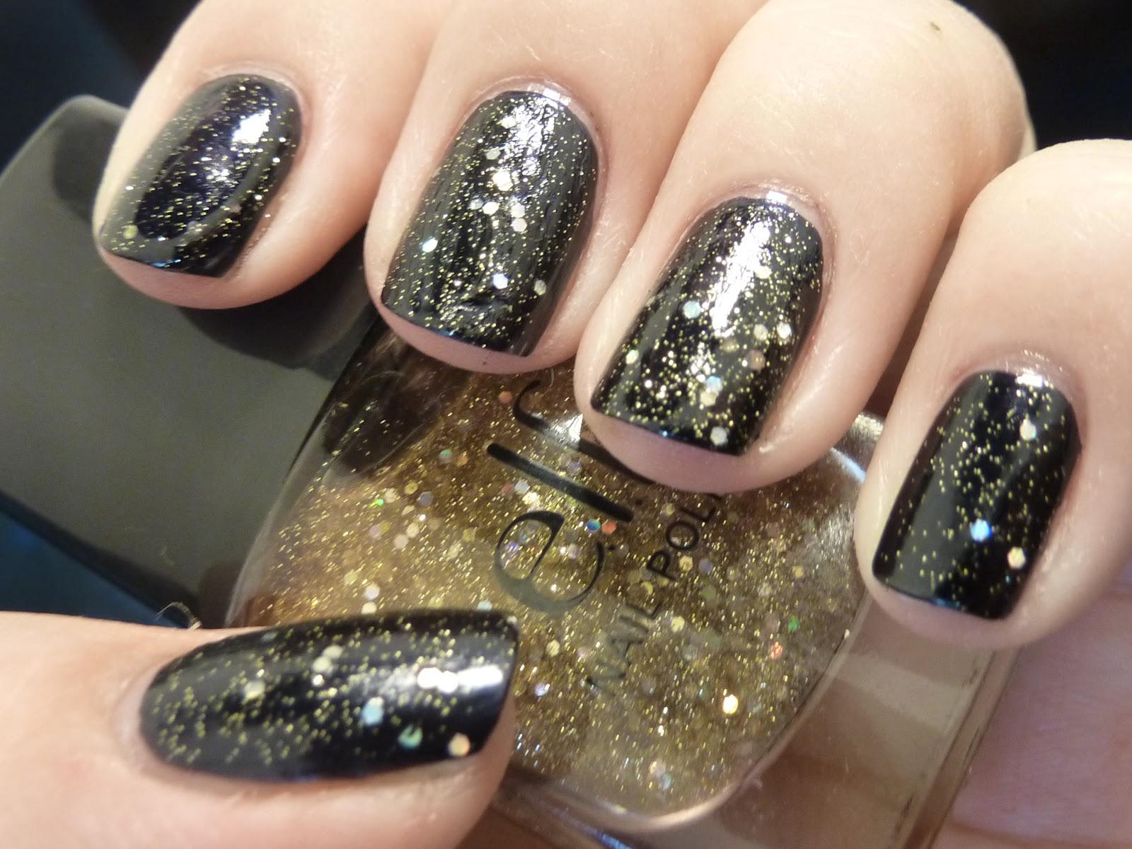 guld glimmer neglelak