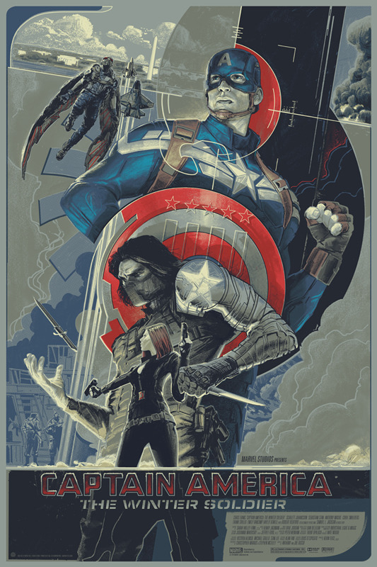 Captain America Winter Soldier Marvel Exhibition Mondo Rich Kelly