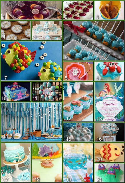 Disney donna kay disney party boards ariel the little for Ariel decoration party