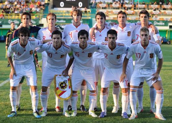 jugadores de la selección española sub 19 de fútbol