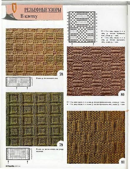 Узоры для вязания спицами рельефные узоры 86