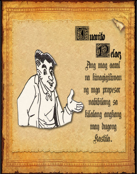 el fili list of characters In el filibusterismo, the filibusteros are represented by the characters of simoun, who epitomizes the radical elements in philippine society.