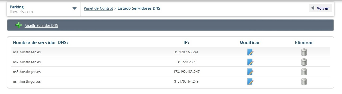 instalar wordpress dns modificados