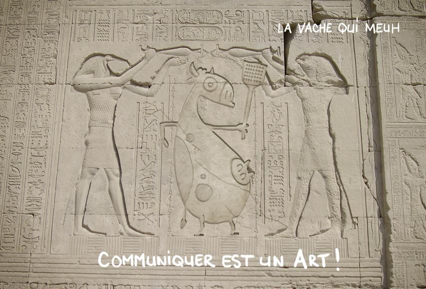 détournement humoristique d'une fresque égyptienne