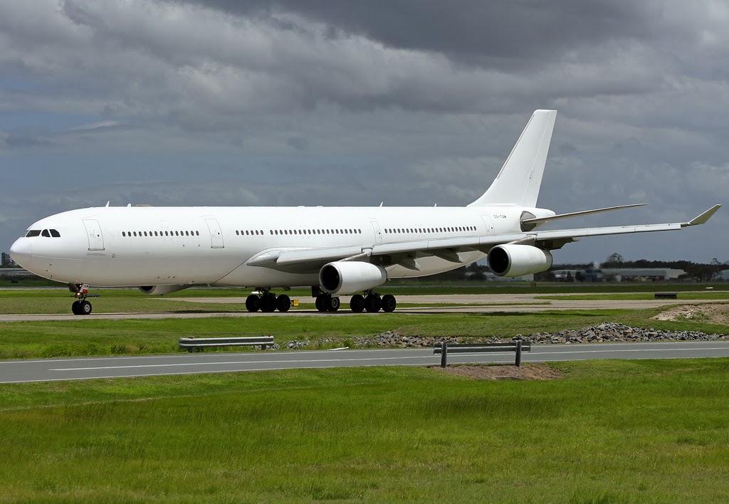 brisbane airport movements  hifly a343 cs