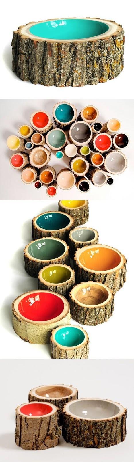 Tree Log Bowls