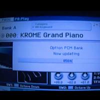 Загрузка сэмплов в рабочую станцию KORG KROME