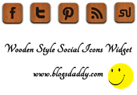 Add Wooden Style Social Icons Widget To Blogger Blog