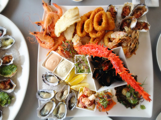barilla bay oysters prawns fish calamari abalone salmon octopus scallops mussels crab