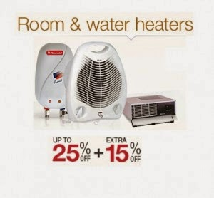 Amazon: Buy Room & Water Heaters 50% off from Rs. 475