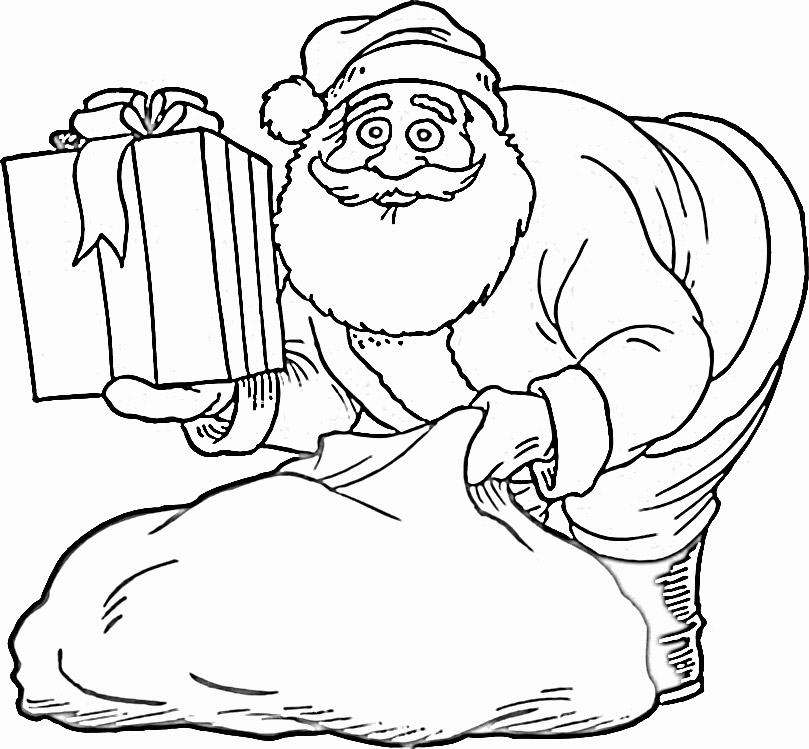 coloring pages with santa - photo#17