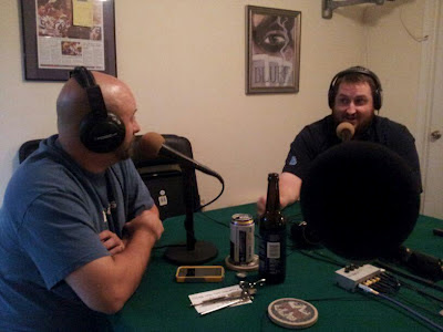 Charles Pierce and Jay Ducote record the Me and My Big Mouth Podcast