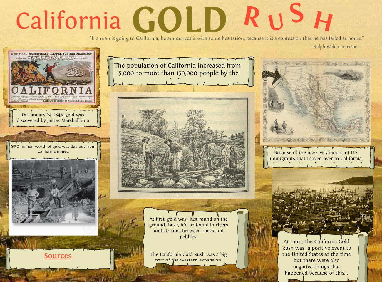 california gold rush of 1849 essay The california essay the california's gold rush of 1849 and how it changed and shaped america's west en1320 gold, since the beginning of civilization has been the focal point of wealth and power.