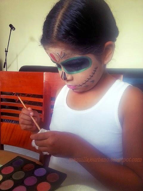 maquillaje de catrina para niñas