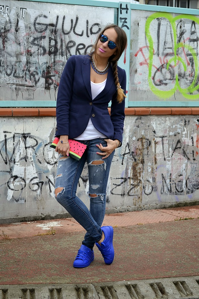 jeans blazer outfit