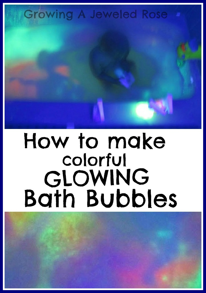 make your own glowing bath bubbles growing a jeweled rose. Black Bedroom Furniture Sets. Home Design Ideas