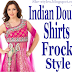 Double Shirt Dresses Designs 2012-2013 | Indian Double Shirts Frock Styles