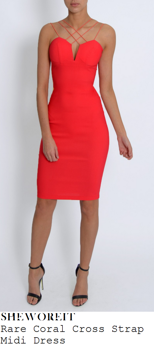 vicky-pattison-coral-strap-detail-midi-dress
