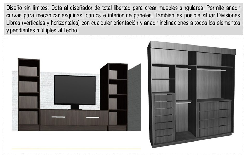 Dise os y optimisaci n de muebles en 3d programa para for Software diseno muebles melamina