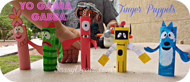 yo gabba gabba finger puppet kids craft