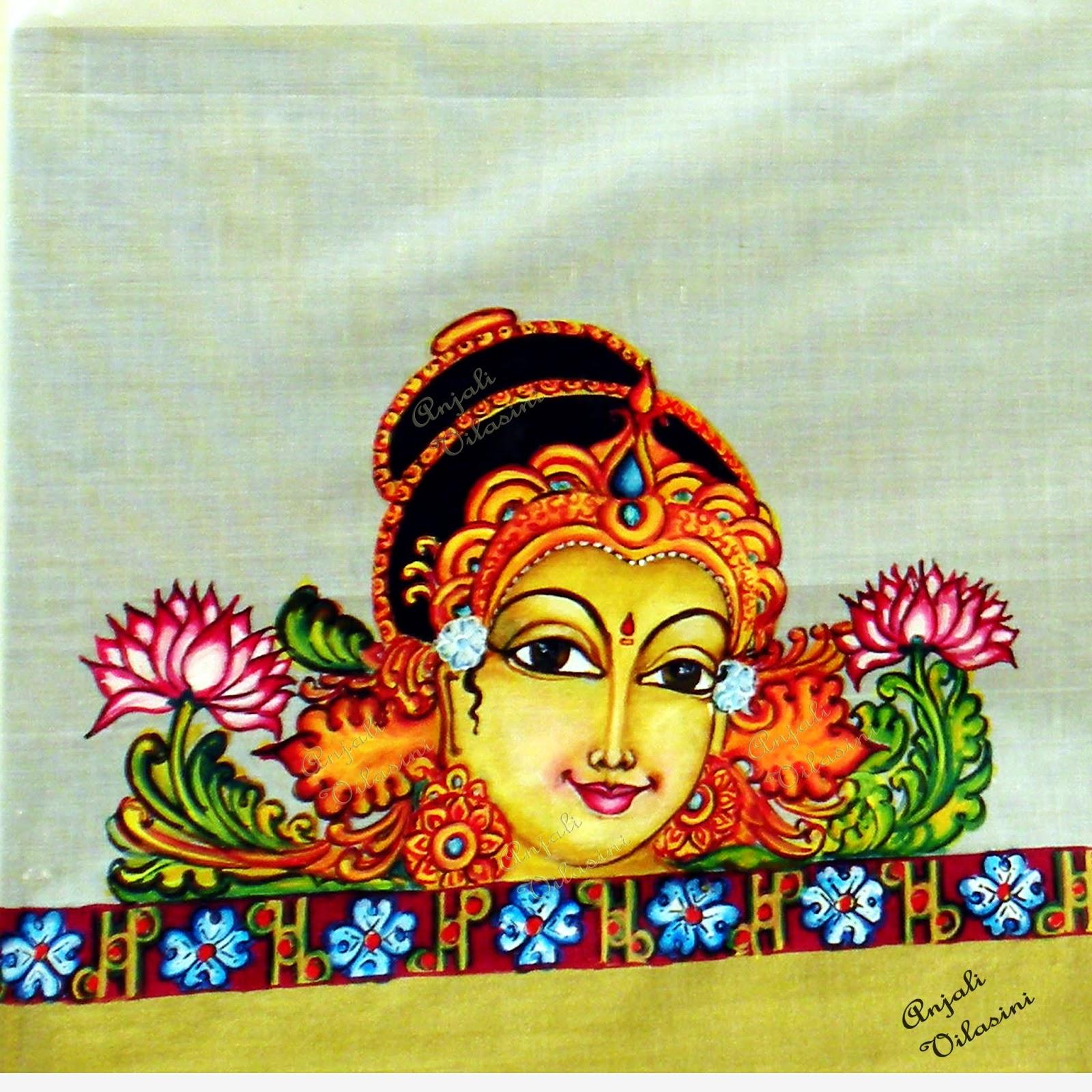 Anjali Vilasini: Mohini - Fabric Painting for Fabric Painting Designs For Kerala Sarees  545xkb