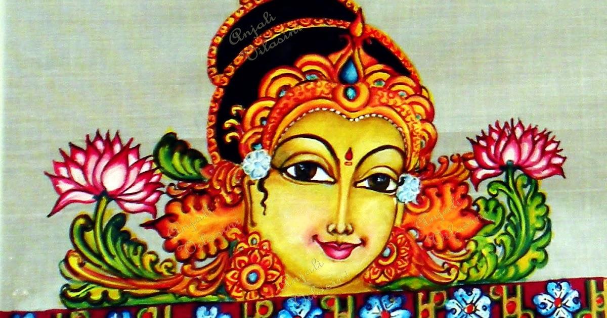 Anjali vilasini mohini fabric painting