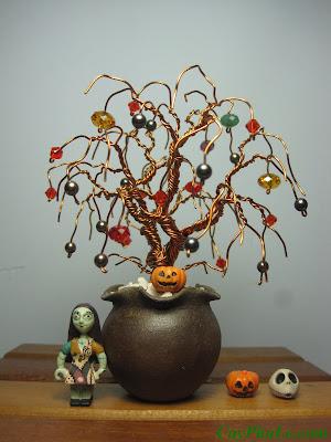 Cây pha lê Halloween - CayPhaLe.com
