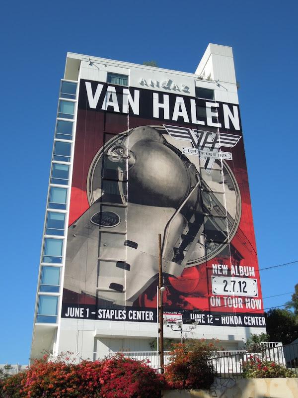 Giant Van Halen 2012 tour billboard