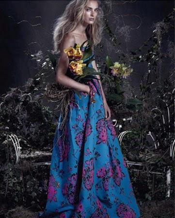 Vestido longo estampa maxi floral Patrícia Bonaldi verão 2015