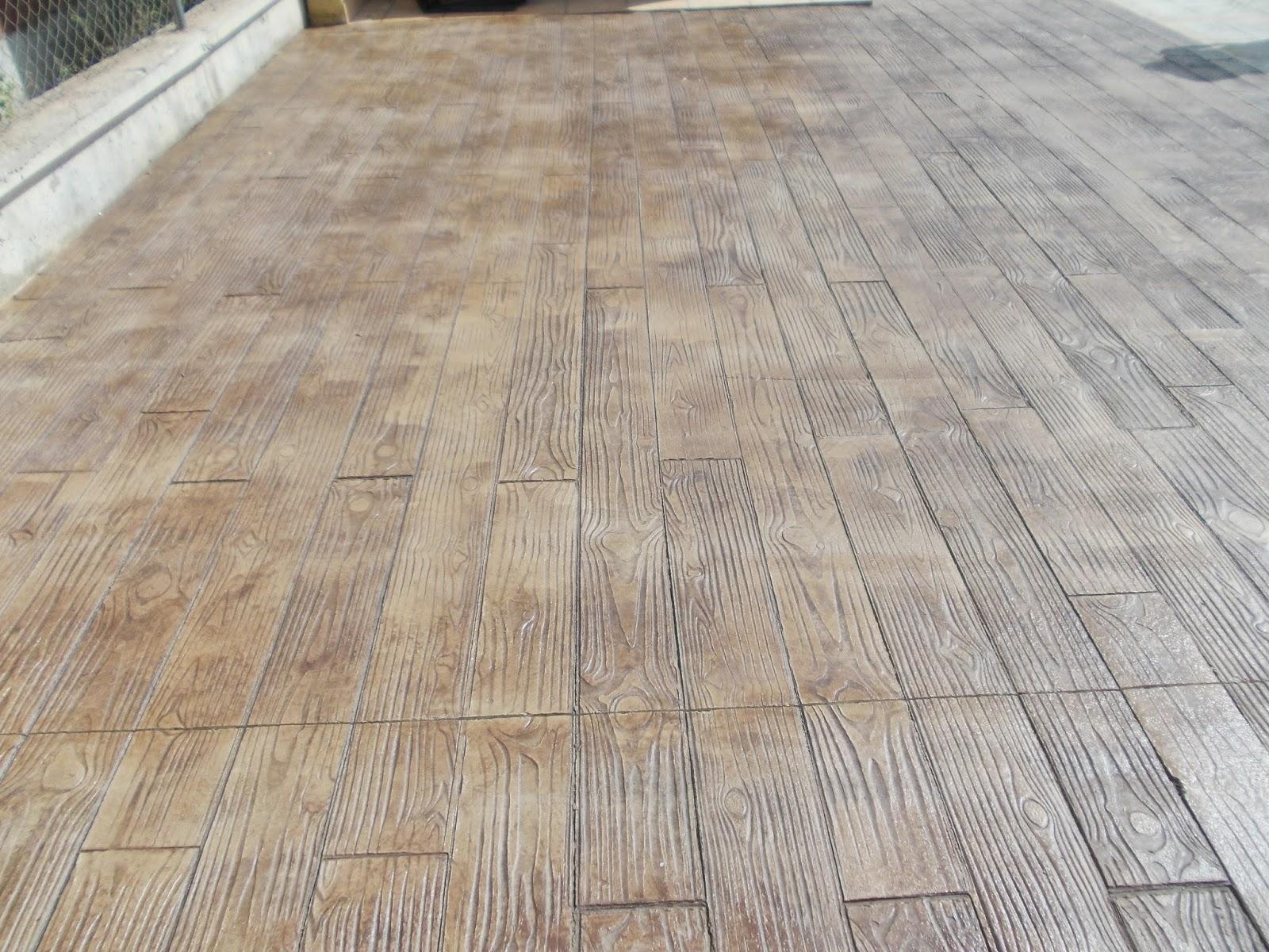 Pavimento continuo de hormig n impreso en murcia for Pavimento de hormigon barcelona