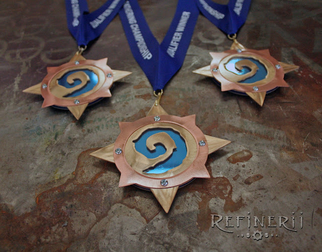 custom award medalions HearthStone
