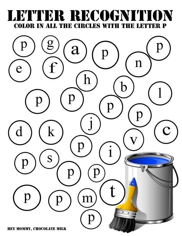 Hey Mommy, Chocolate Milk: P is for Paint - Printables