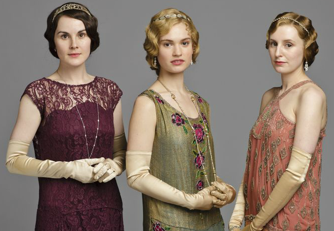 i tre stili di lady mary, lady rose e lady edith di downton abbey rivisitati in chiave plus size