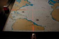 mapa per determinar posició de naus amb làser