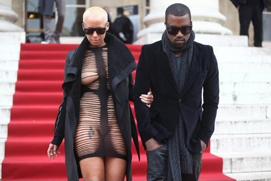 amber rose and kanye west kissing. 2010 dresses Kanye West and