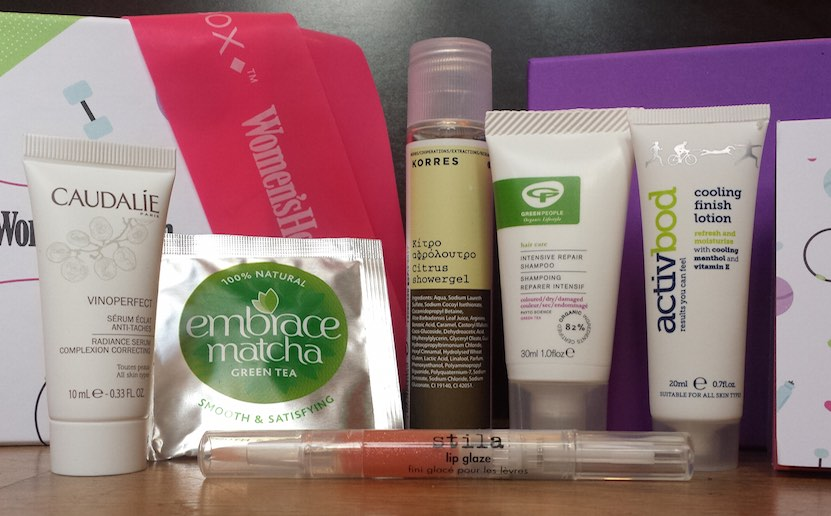 Birchbox and Women's Health January 2015 box contents