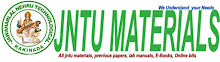 JNTU MATERIALS -jntu updates, jntu materials, previous papers, syllabus
