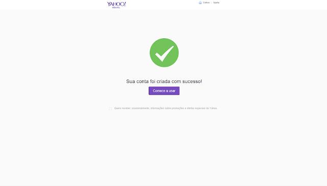 Como criar no email no Yahoo