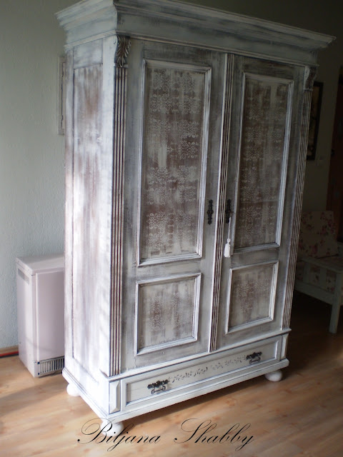 Old Painted Armoire For Sale
