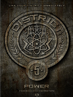 The Hunger Games District 5 Power Poster