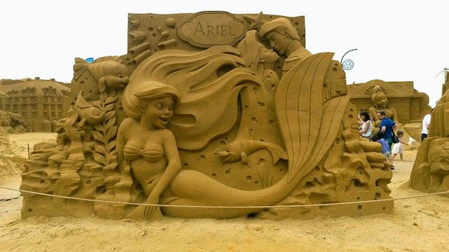 Ariel Disney Sand Sculpture